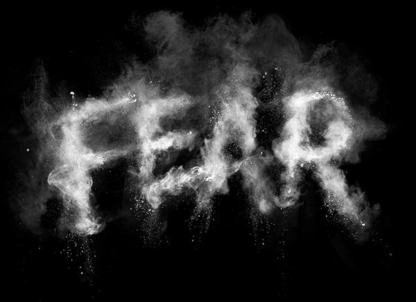 """""""FEAR"""" spelled in smoke"""
