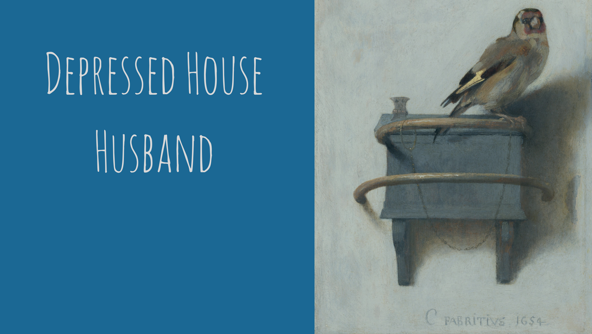 3.16.18 Depressed House Husband cover featuring The Goldfinch