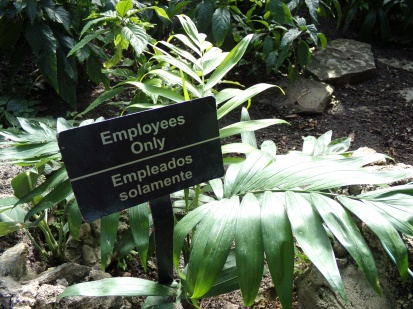 "plants with ""employees only"" tag"